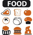 food signs vector image vector image
