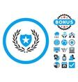 Glory Shield Flat Icon with Bonus vector image