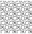 hand draw seamless pattern of cross and zero signs vector image vector image