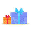 happy easter gift boxes isolated on white vector image vector image