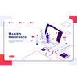health insurance concept family medical health vector image