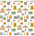 Hiking seamless pattern with flat camping elements vector image vector image