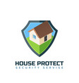 home protection isolated logo template vector image