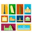 Landmarks of Italy icons set vector image vector image
