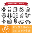 Line icons set 25 vector image vector image