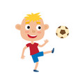 little blonde boy in shirt vector image vector image