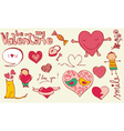 love doodles vector image
