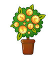 money tree icon flat style vector image