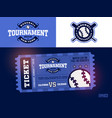 one modern professional design of baseball tickets vector image