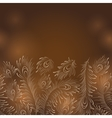 Peacock Feathers - Horisontal Seamless vector image vector image