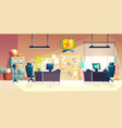 police station office room interior cartoon vector image