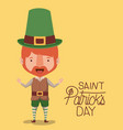 poster saint patricks day with elf in colorful vector image vector image