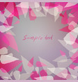 purple background with pink leaves vector image vector image