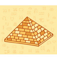 pyramid of ancient egypt of blocks vector image vector image