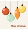 Retro christmas card with christmas balls vector image vector image