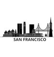 san francisco architecture city skyline vector image