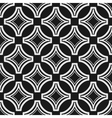 Seamless geometric black and white pattern vector image