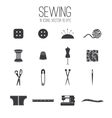 set icon sewing vector image