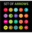 Set of arrows text color vector image vector image