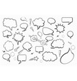 set of blank empty hand drawn comic speech vector image vector image