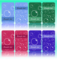 set of cards with bubbles vector image vector image