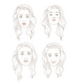 set of four european woman portraits vector image