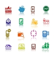Set pictograms Shopping Icons Color with vector image