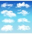 set transparent different clouds vector image