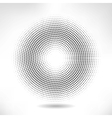 silver circle of halftone vector image