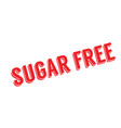 sugar free rubber stamp vector image