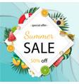summer sale banner summer vector image