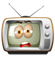 Television with sleepy face vector image vector image