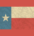 texan flag with a vintage and old look lone star vector image vector image