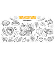 thanksgiving dishes and harvest set vector image vector image