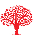 tree lovers vector image vector image