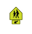 usa traffic road signs school crossing vector image vector image