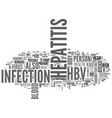 what should i know about hepatitis b text word vector image vector image