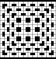 white geometric pattern on black background vector image vector image