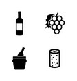 wine making simple related icons vector image vector image