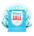 Winter Sale Shopping Bag vector image vector image