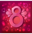 womens day background with sparkles elements vector image vector image