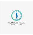 yoga logo template vector image
