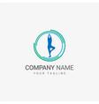 yoga logo template vector image vector image