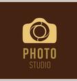 logo for photographer or photo studio vector image
