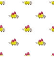 truck icons seamless pattern Funny gift vector image