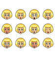 woman emotions vector image