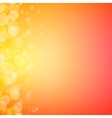 Abstract bokeh sparkles on sunny blurred vector image vector image