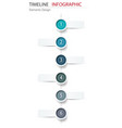abstract element timeline infographics design for vector image vector image