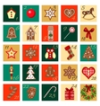 Advent Calendar hand drawn big squared set vector image vector image