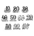 anniversary year numbers lettering vector image